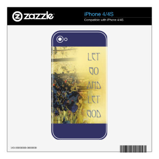 Let Go and Let God Blue Irises Decals For The iPhone 4
