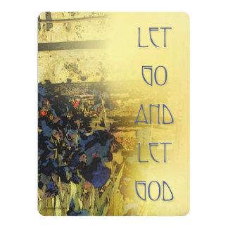 Let Go and Let God Blue Irises 6.5x8.75 Paper Invitation Card