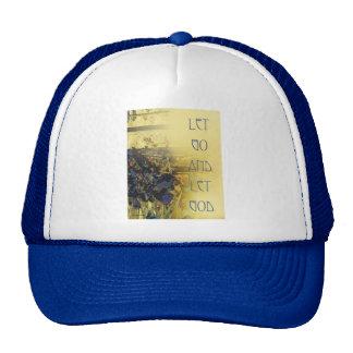 Let Go and Let God Blue Irises Trucker Hat