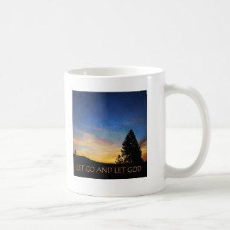 Let Go and Let God Blue Orange Sunrise Classic White Coffee Mug