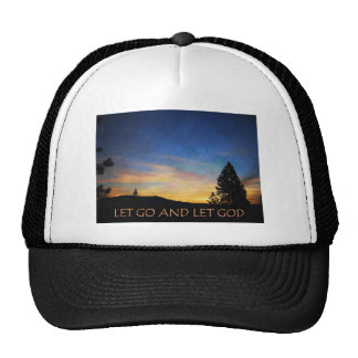 Let Go and Let God Blue Orange Sunrise Trucker Hat