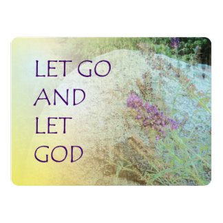 """Let Go and Let God Boulder and Butterfly Bush 6.5"""" X 8.75"""" Invitation Card"""