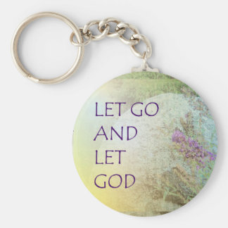 Let Go and Let God Boulder and Butterfly Bush Key Chain