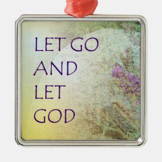 Let Go and Let God Boulder and Butterfly Bush Ornaments
