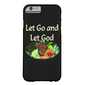 LET GO AND LET GOD BUTTERFLY DESIGN BARELY THERE iPhone 6 CASE