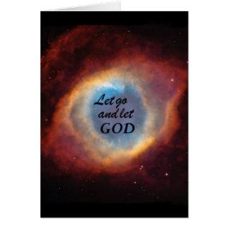 """""""Let Go and Let God"""" Card"""