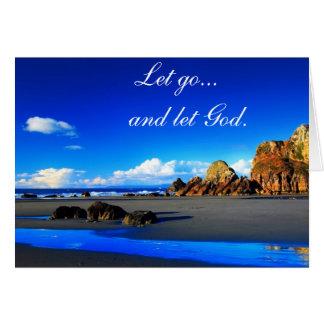 Let go and let God. Card