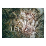 Let Go and Let God - Ferns Greeting Card