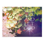 Let Go and Let God Flowers Post Cards