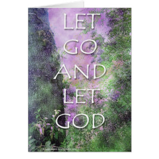 Let Go and Let God Greeting Cards