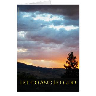 Let Go and Let God July Sky Greeting Card