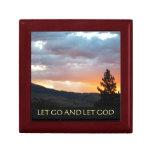 Let Go and Let God July Sky Trinket Box