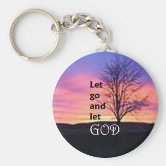 Let Go and Let God Key Chain