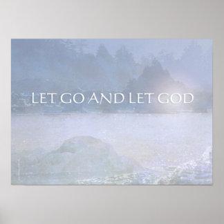 LET GO AND LET GOD Lavender Blue Bay Print