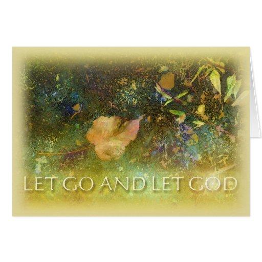 Let Go and Let God - Leaf 2 Greeting Card