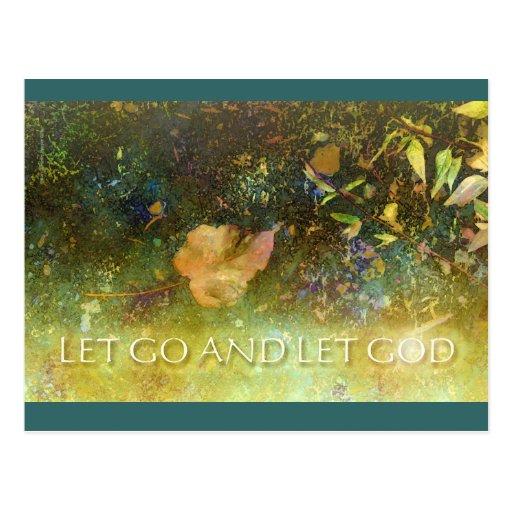 Let Go and Let God - Leaf Postcards