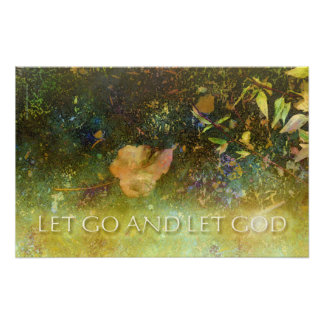 Let Go and Let God - Leaf Print