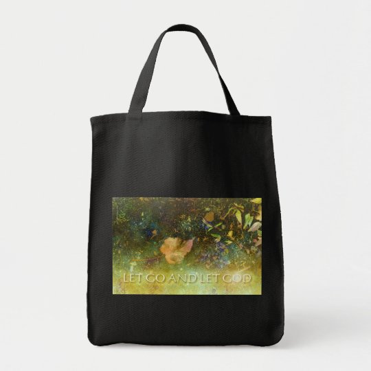 Let Go and Let God - Leaf Tote Bag
