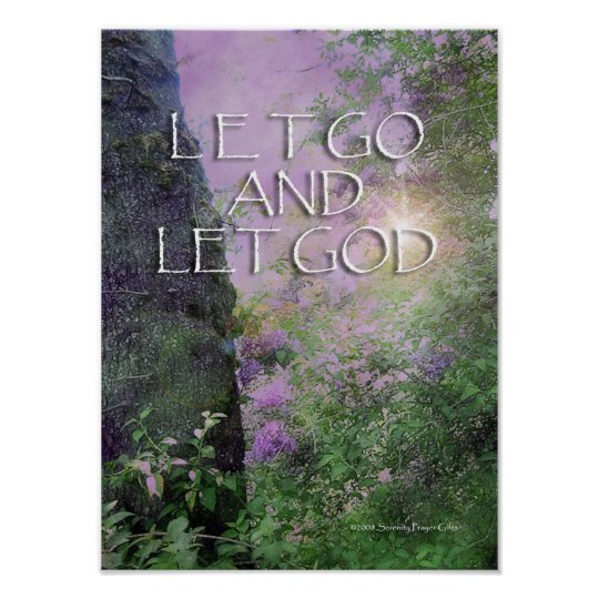 Let Go and Let God Lilacs & Tree 2 Poster