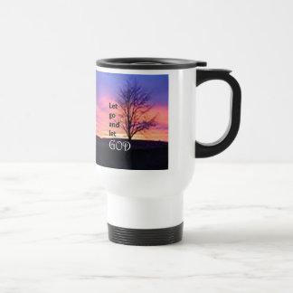 Let Go and Let God 15 Oz Stainless Steel Travel Mug