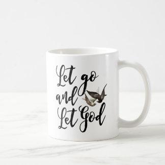 Let go and Let God mug scripture quote