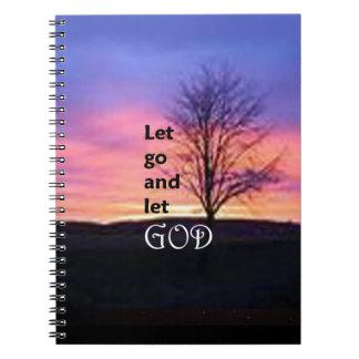 Let Go and Let God Spiral Notebooks