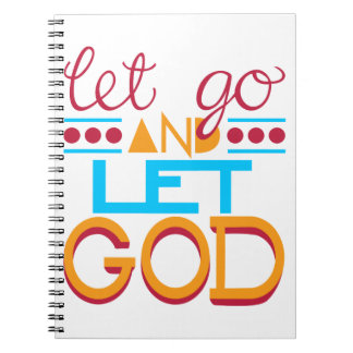 Let Go and Let GOD (Original Typography) Note Book