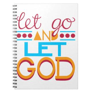 Let Go and Let GOD (Original Typography) Spiral Notebook