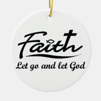 LET GO AND LET GOD CHRISTMAS TREE ORNAMENT