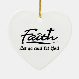 LET GO AND LET GOD ORNAMENT