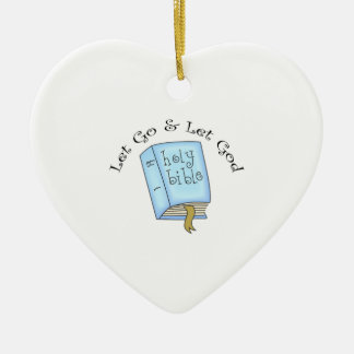 LET GO AND LET GOD CHRISTMAS ORNAMENT