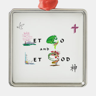 Let Go and Let GOD Christmas Tree Ornaments