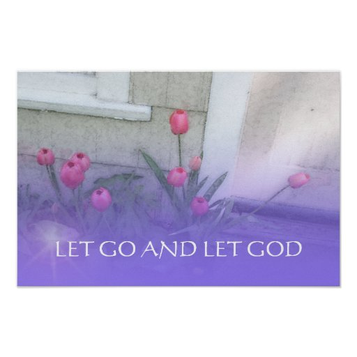 Let Go and Let God Pink Tulips Print