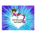 Let Go and Let God Post Card