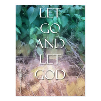 Let Go and Let God Post Cards