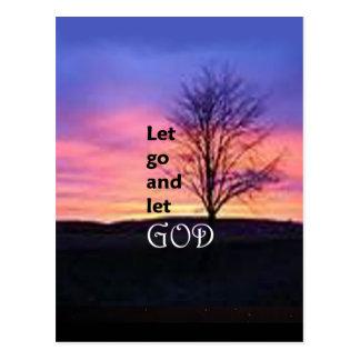 Let Go and Let God Postcard