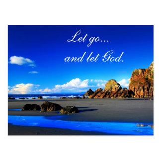 Let go and let God. Postcard