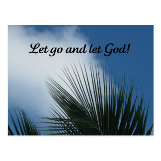 Let go and let God! Postcard