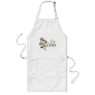 Let Go and Let God (Recovery Quotes) Long Apron