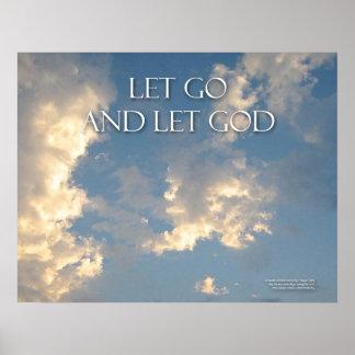 Let Go And Let God Sky Clouds Print