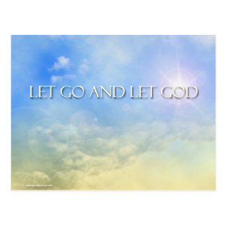 Let Go and Let God - Sky Postcard