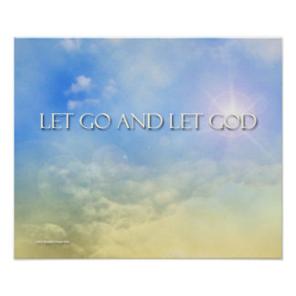 Let Go and Let God - Sky Print