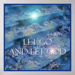 Let Go and Let God Steps & Leaves Poster