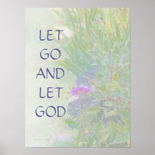 Let Go and Let God Summer Garden Print