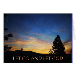 Let Go and Let God Sunrise Greeting Card