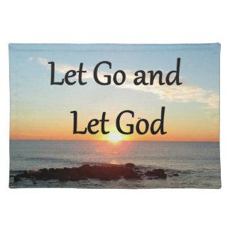 LET GO AND LET GOD SUNRISE PHOTO CLOTH PLACEMAT