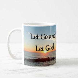 LET GO AND LET GOD SUNRISE PHOTO COFFEE MUG