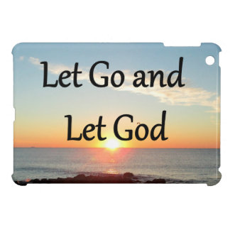 LET GO AND LET GOD SUNRISE PHOTO iPad MINI COVER
