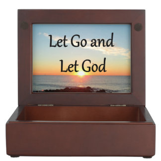 LET GO AND LET GOD SUNRISE PHOTO KEEPSAKE BOX