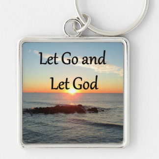 LET GO AND LET GOD SUNRISE PHOTO KEYCHAIN